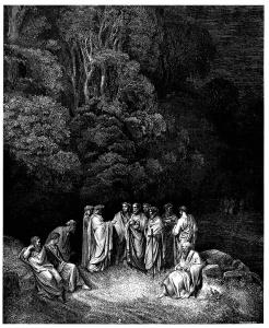 Пеколот - пред портите со античките поети