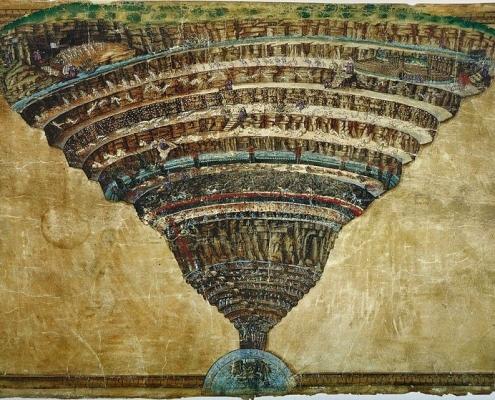 Пеколот претставен како инка - Сандро Ботичели